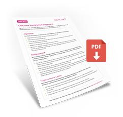 Checkliste Krankheitsmanagement